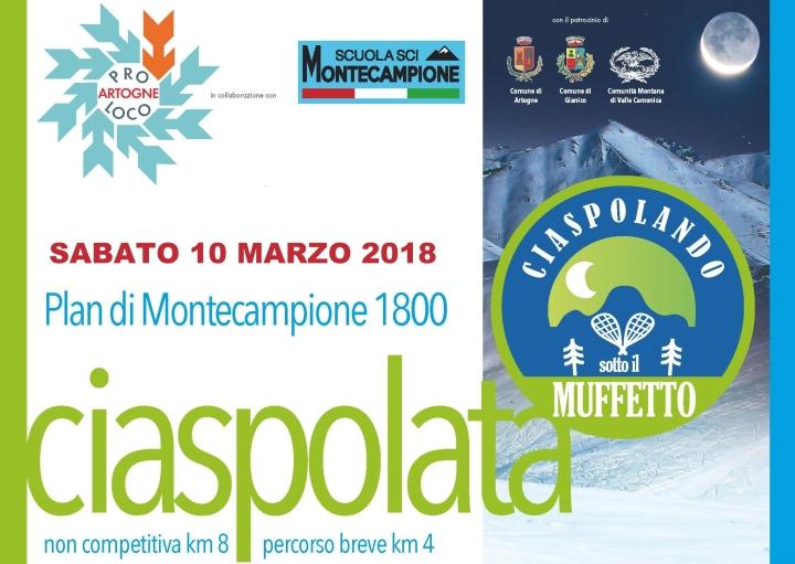 Ciaspolata 2018 locandina copertina