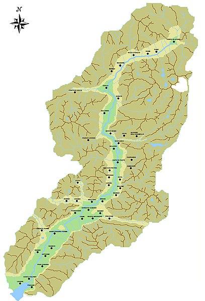 Cartina della Valle Camonica. Foto di Lucia Giarelli